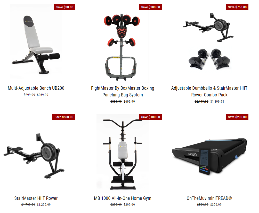 Core Home Fitness All products