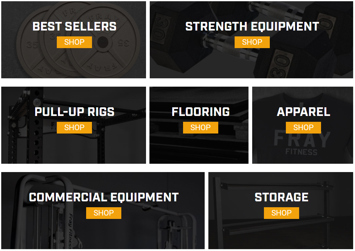 Fray Fitness products - Best Sellers, Strength Equipment, Pull-Up Rigs, Apparel, etc.