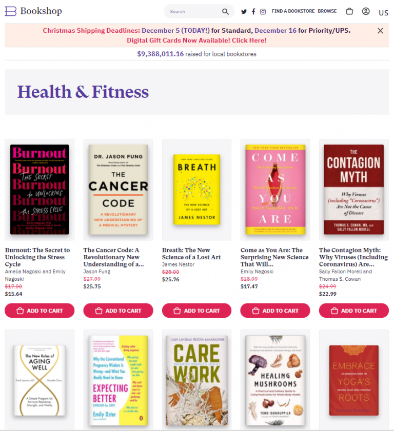 Bookshop Fitness