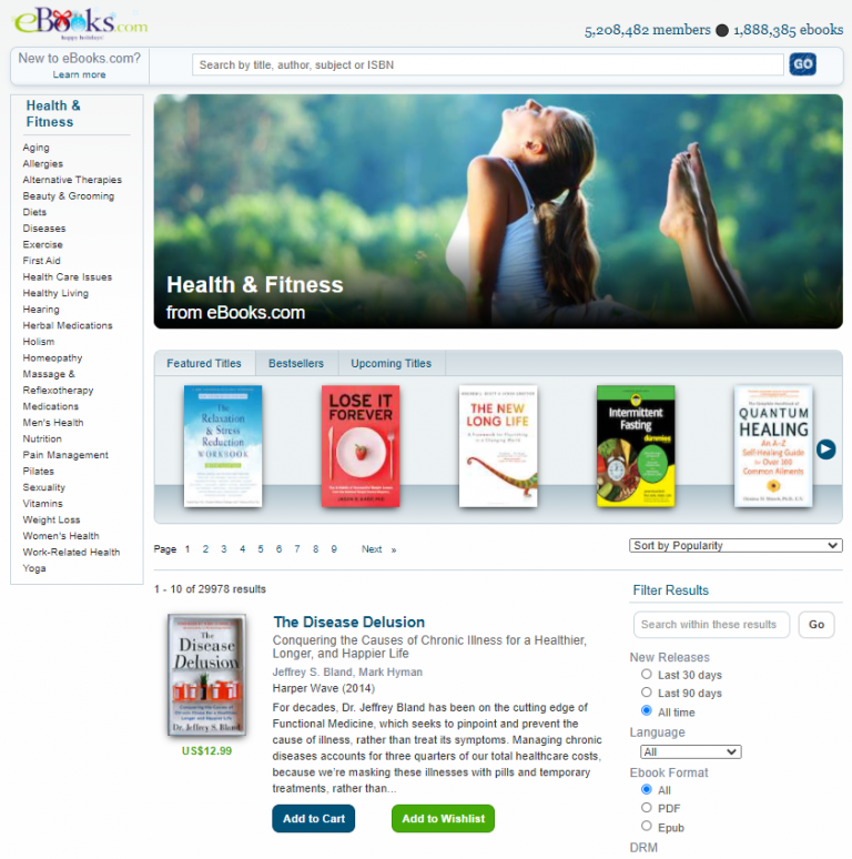 eBooks - Health and Fitness