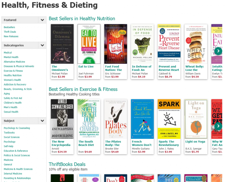 ThriftBooks Fitness