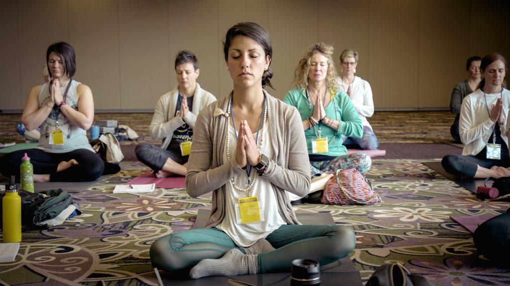 Yoga and meditation class image