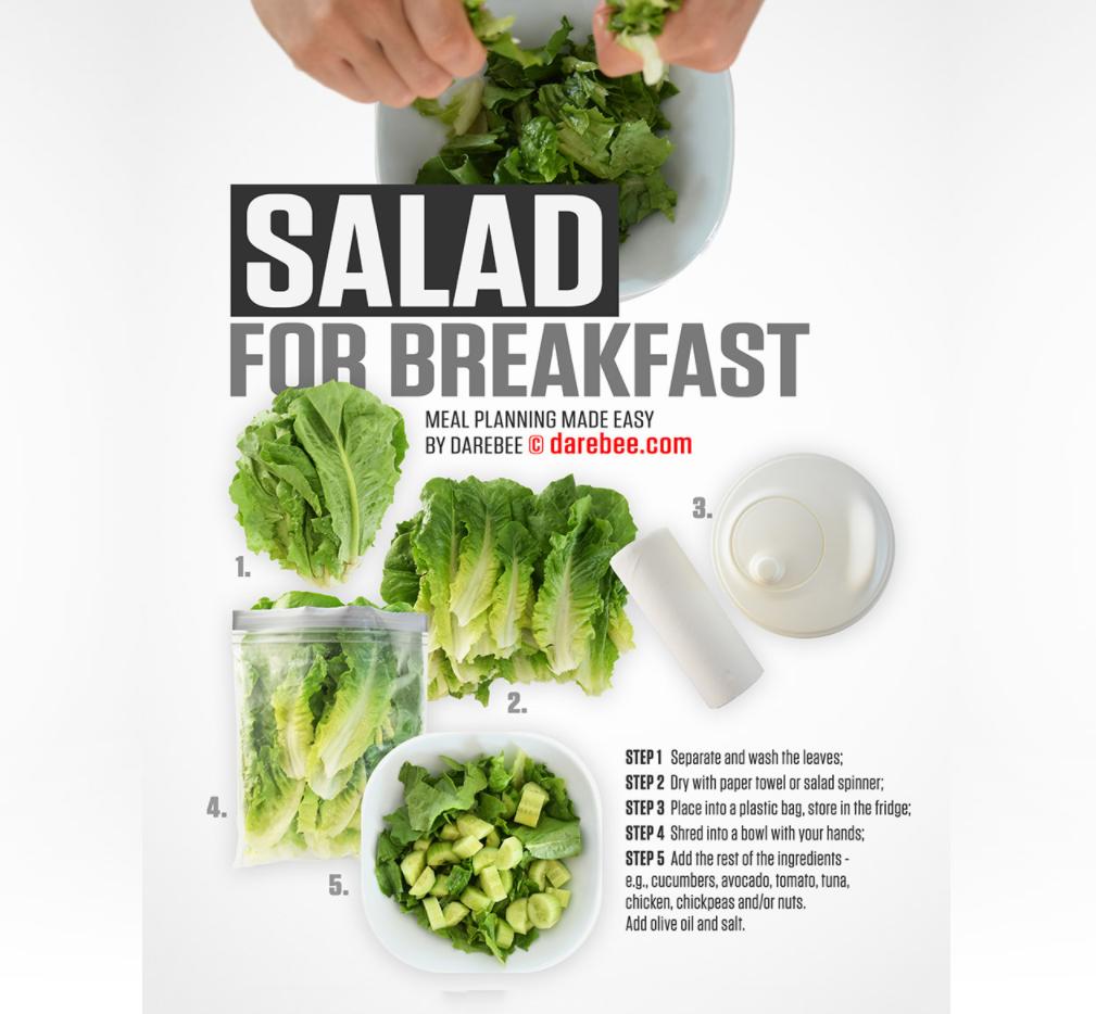 Darebee salad for breakfast