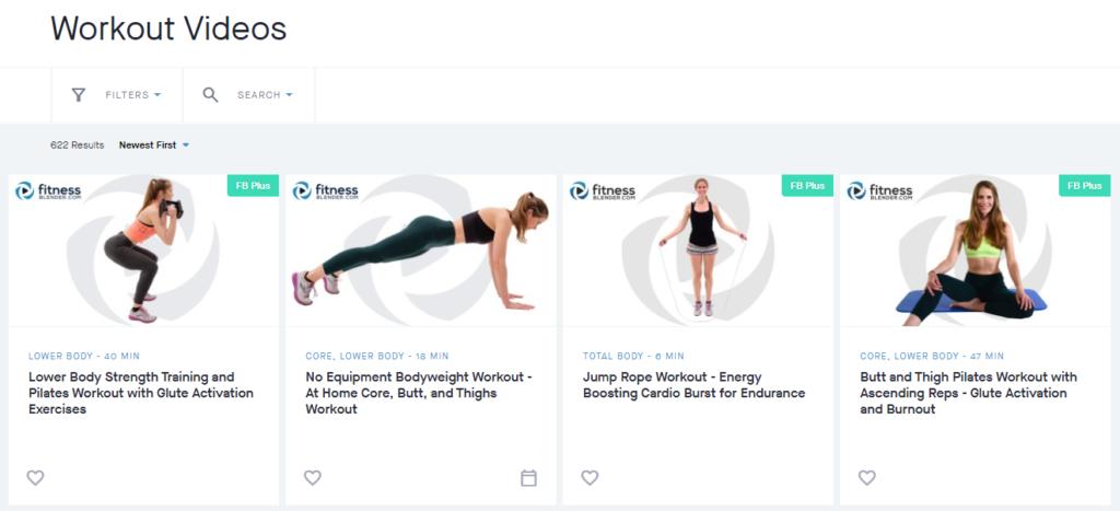 Fitness Blender Workout Videos