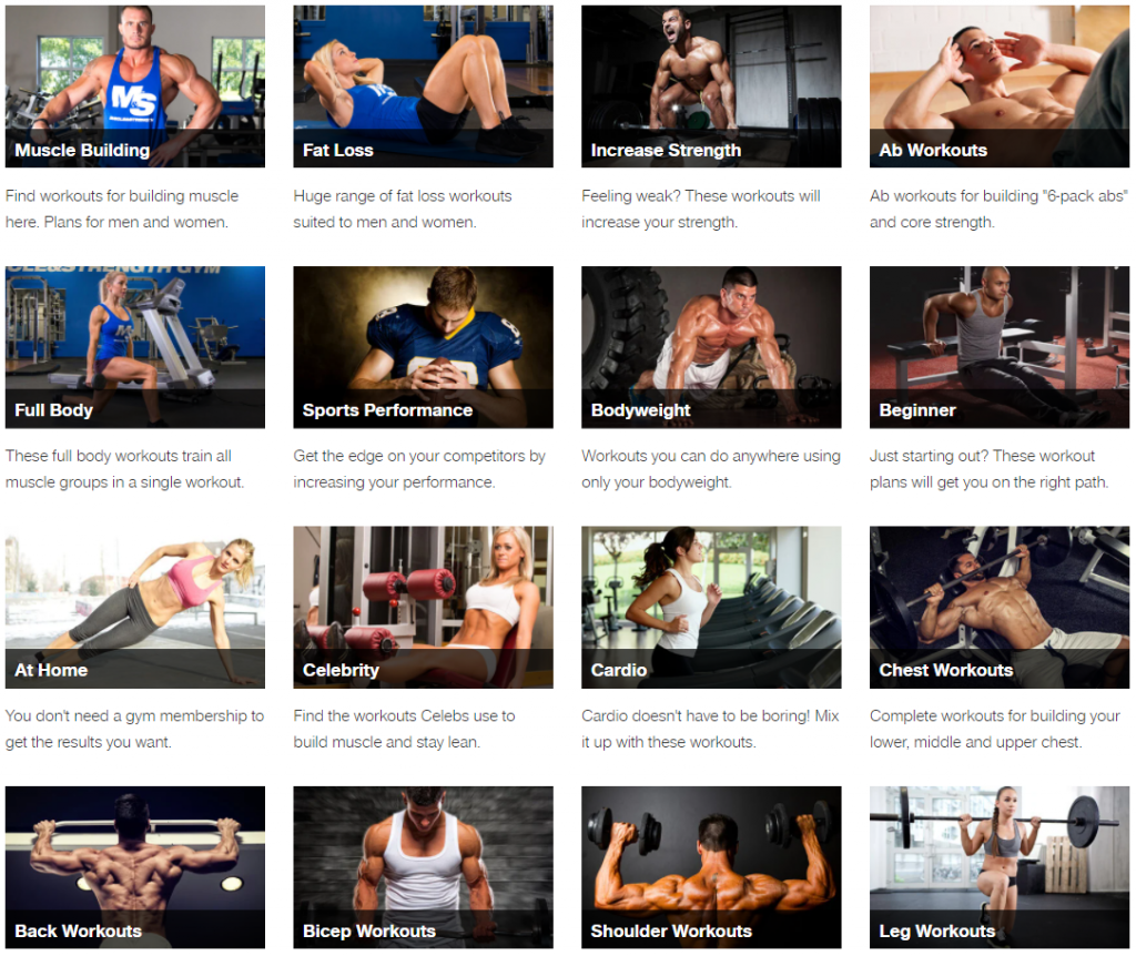 Muscleandstrength.com workout routines