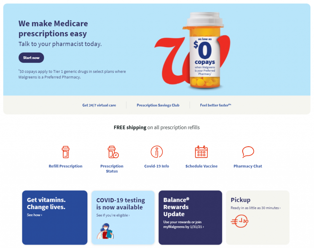 Wallgreens Pharmacy offer