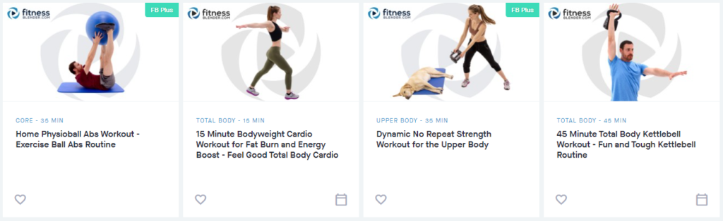 Fitness Blender Videos