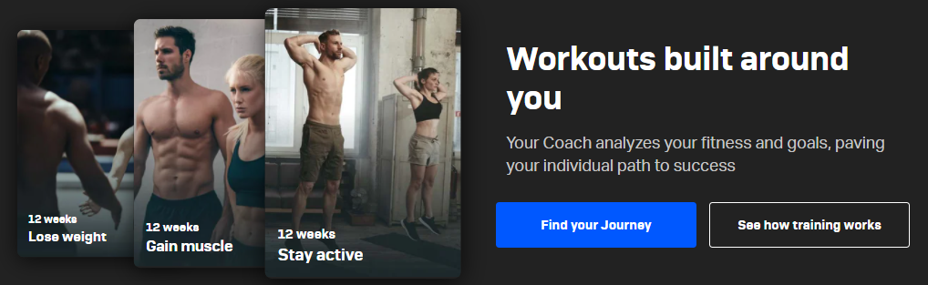 Freelectics intensive workouts and individual training plans