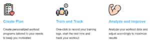 JEFIT Plan, Track, Analyze - functionalities