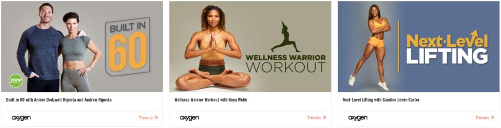 Oxygen fitness courses
