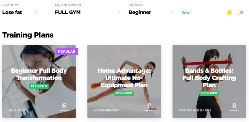 WorkoutLabs Fit training plans