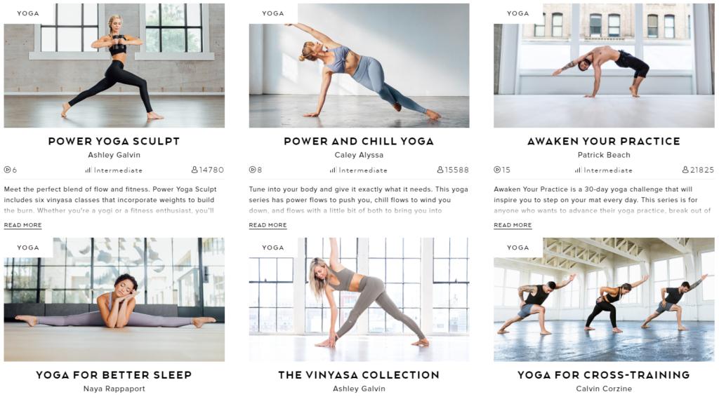 Alo Moves yoga series programs