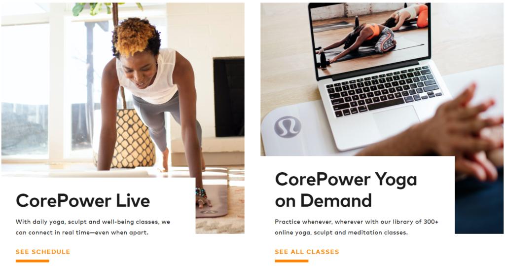 CorePower Yoga live & on demand