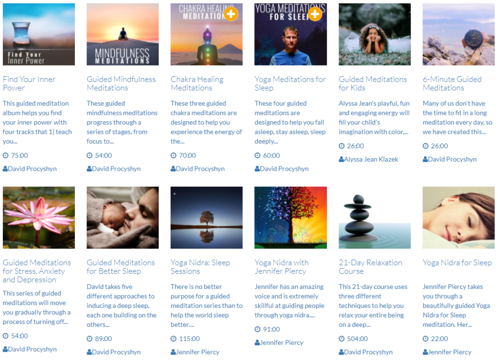Free guided meditations, visualizations and relaxations on DoYogaWithMe