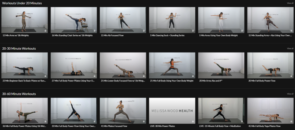 Melissa Wood Health workouts on Healthy & Exercise