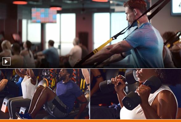 Strength training at Orangetheory fitness