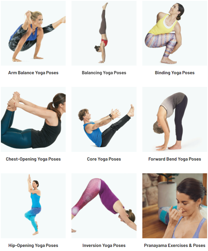 Yoga poses by type on Yoga Journal