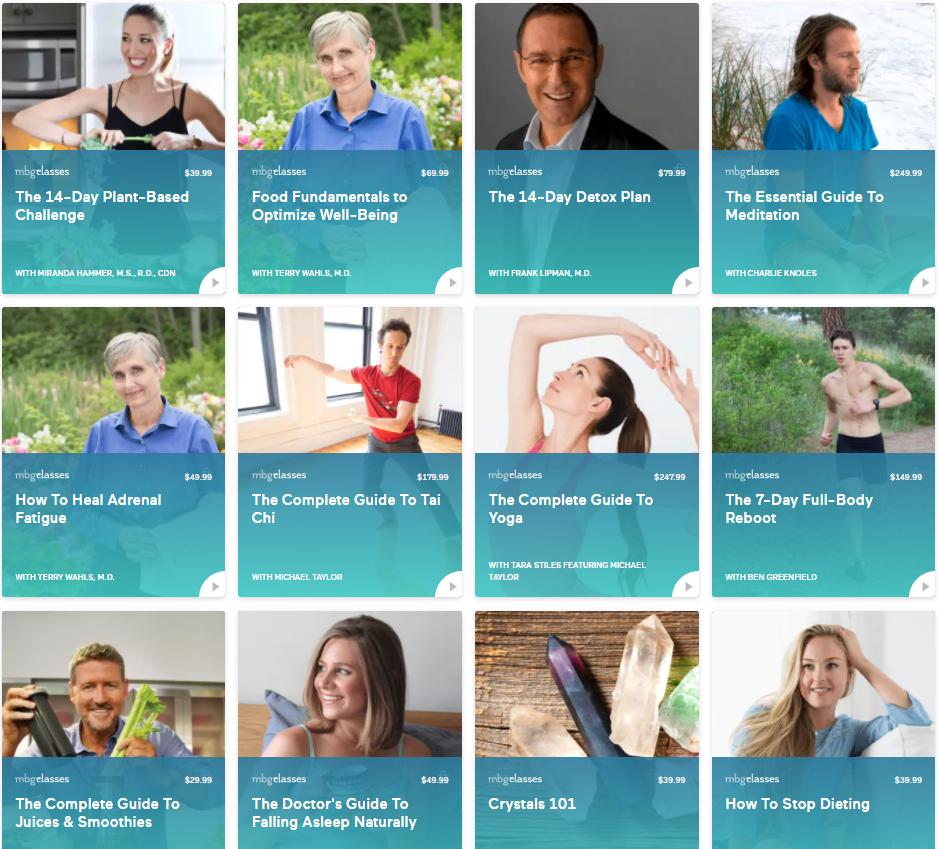 mindbodygreen yoga, meditation, workout & diet classes