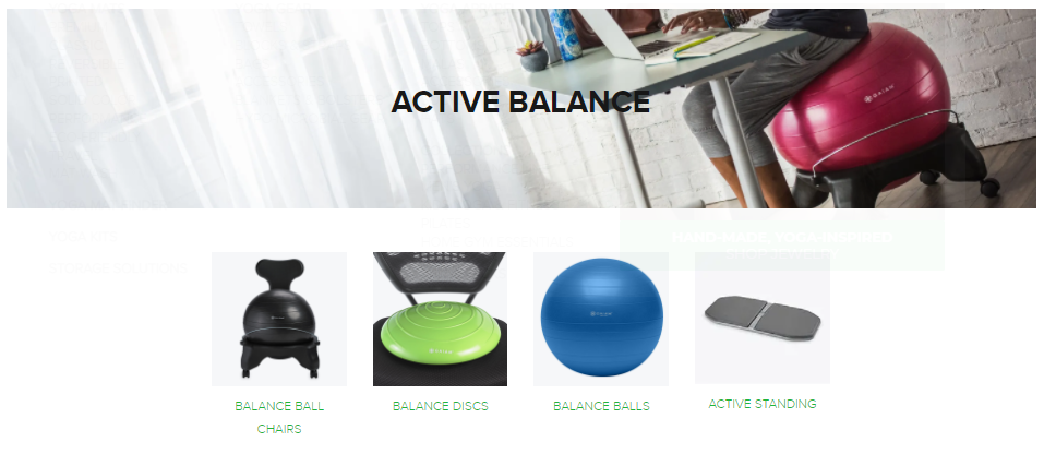 Gaiam fitness active balance on Healthy & Exercise