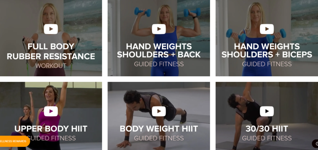 Gaiam weekly fitness workout routines on Healthy & Exercise