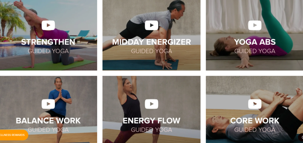 Gaiam guided yoga videos on Healthy & Exercise