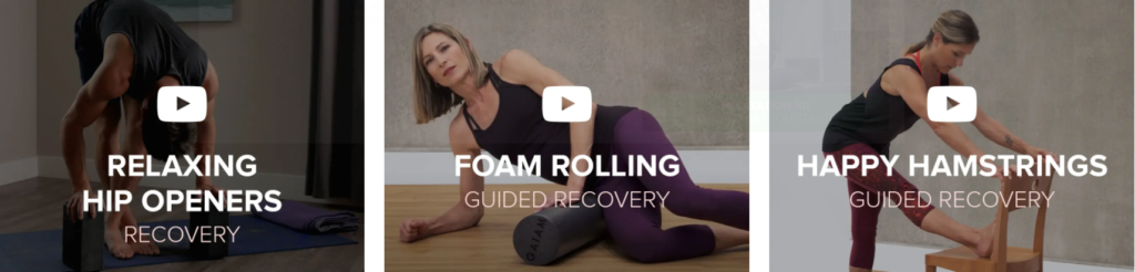 Gaiam recovery zone on Healthy & Exercise