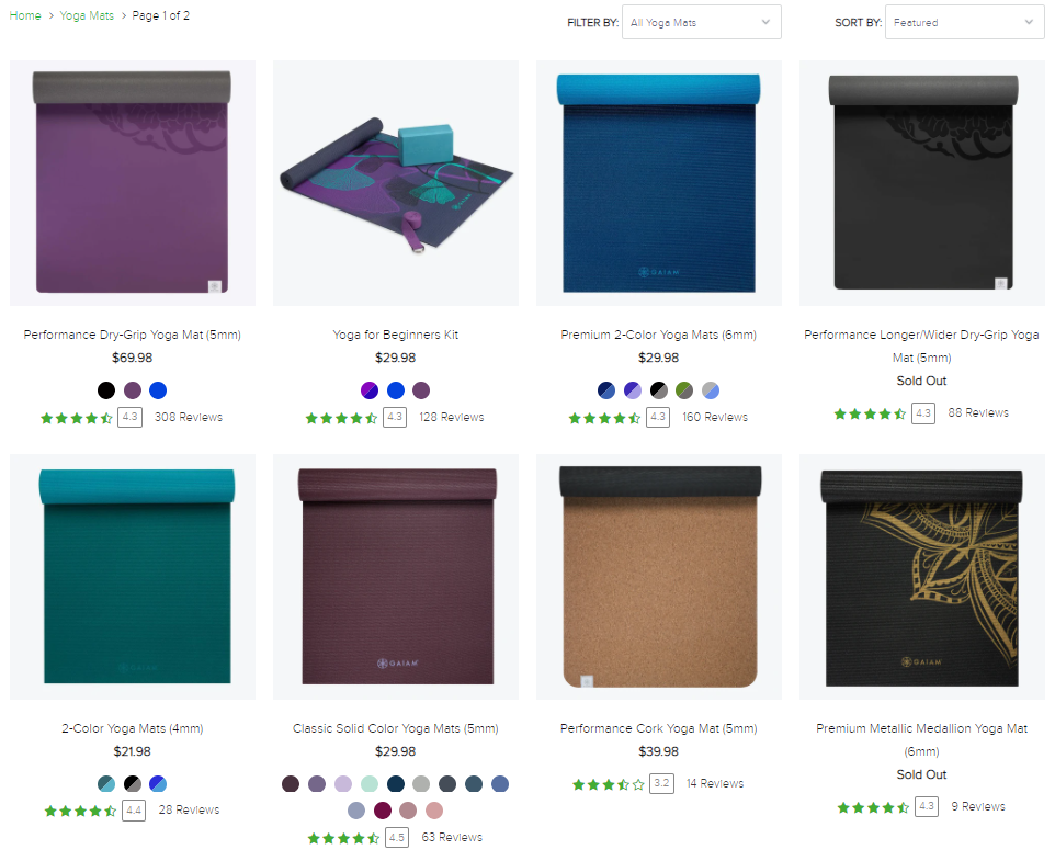 Gaiam yoga mats on Healthy & Exercise