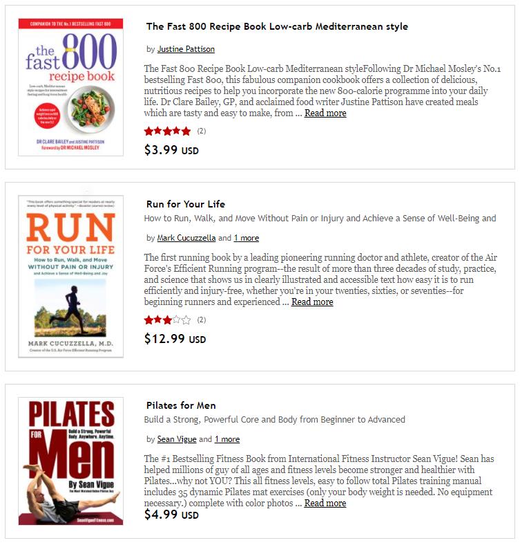 Rakuten Kobo fitness e-books and audiobooks on Healthy & Exercise
