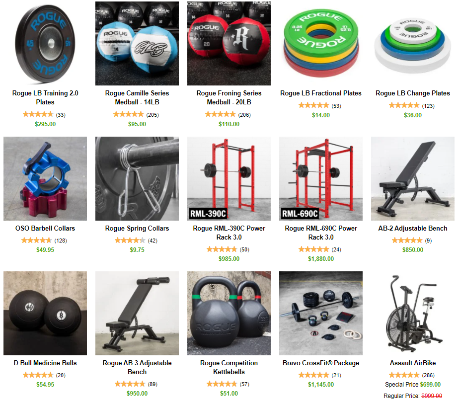Rogue Fitness Crossfit Equipment on Healthy & Exercise