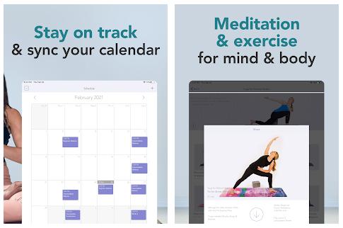 Smartphone App Yoga Studio Poses & Classes by Gaiam - schedule your yoga & meditation class