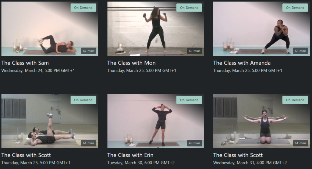 TheClass.com on demand classes on Healthy & Exercise