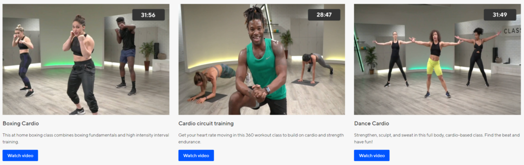 ClassPass Cardio Online Workout Videos on Healthy & Exercise