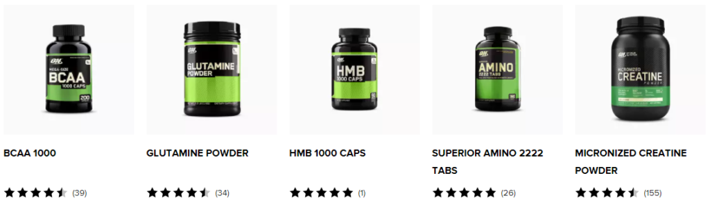Optimum Nutrition Advanced Fitness Products on Healthy & Exercise