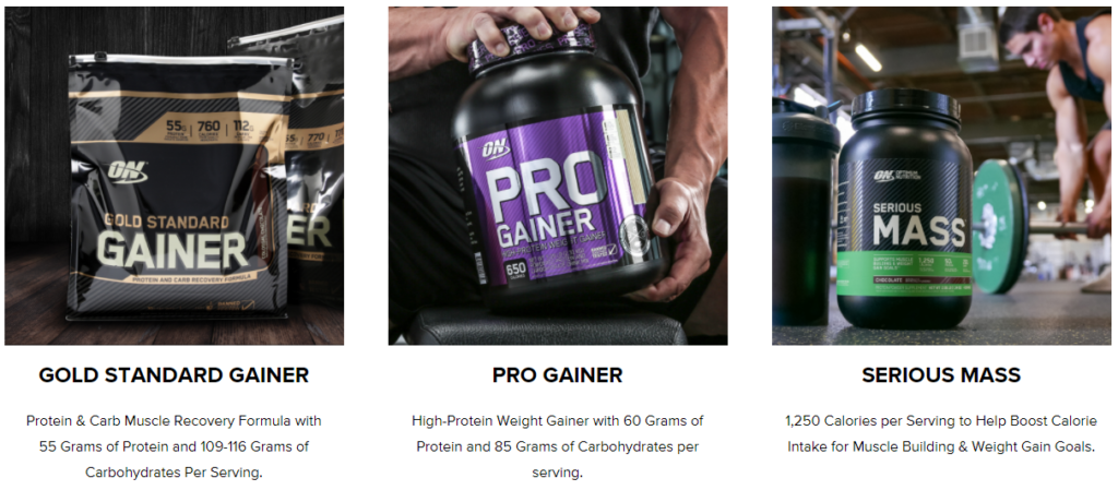 Optimum Nutrition Weight Gainers on Healthy & Exercise