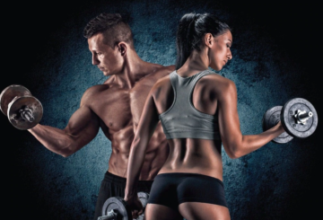 Man and Woman weight training (for Healthy & Exercise blog post Weight Training Guide)